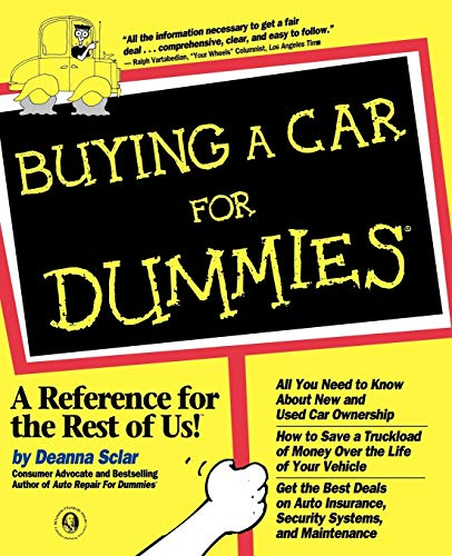 Buying a Car For Dummies by Sclar, Deanna Paperback Book The Cheap Fast Free
