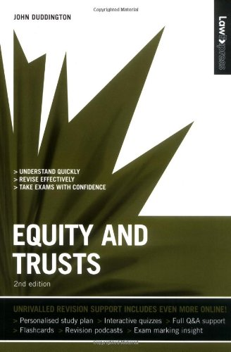 equity and trust This note focus on aspects of equity and trusts in two specific contexts: commerce and the home it will advance novel conceptual approaches to two significant arenas in which equitable doctrines like the trust are deployed.