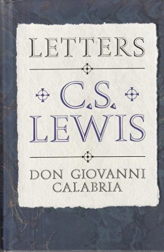Letters to Don Giovanni Calabria By C. S. Lewis