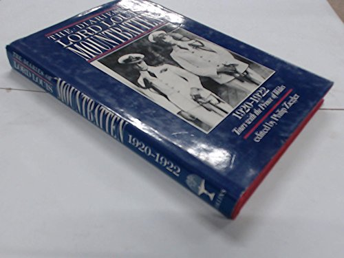 The Diaries of Lord Louis Mountbatten By Earl Louis Mountbatten Mountbatten of Burma