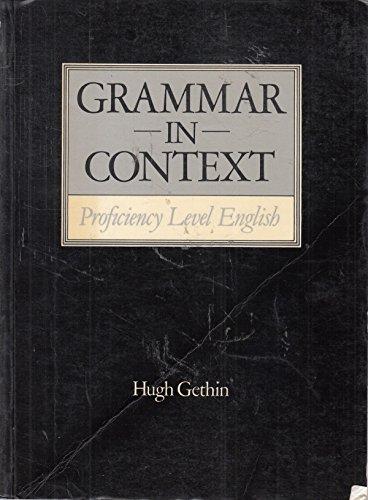 Grammar in Context By Hugh Gethin