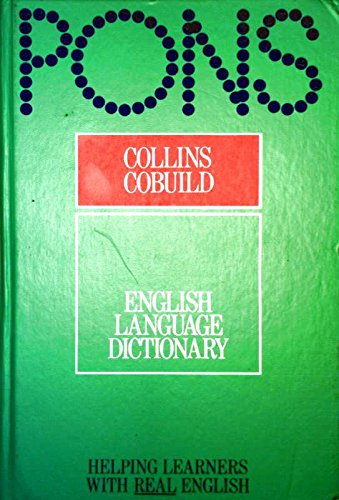 Collins COBUILD English Language Dictionary By Volume editor John Sinclair