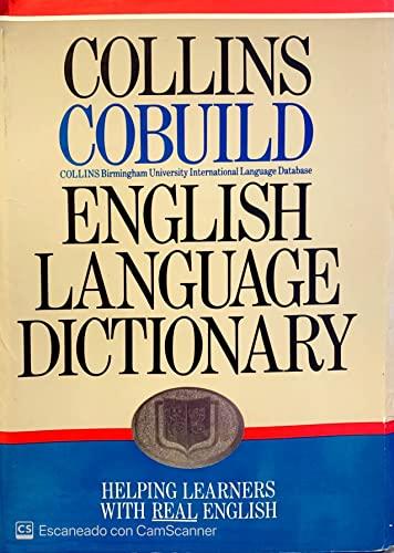 Collins COBUILD English Language Dictionary By Volume editor John Sinclair