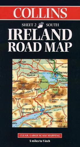 Collins Ireland Road Map By Collins