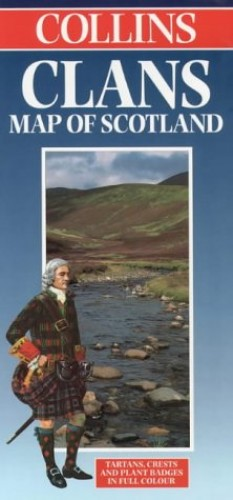 Clans Map of Scotland By Collins Publishers