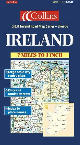 Great Britain and Ireland Road Map By Created by Collins Publishers
