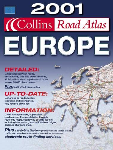 2001 Collins Road Atlas Europe By Bartholomew