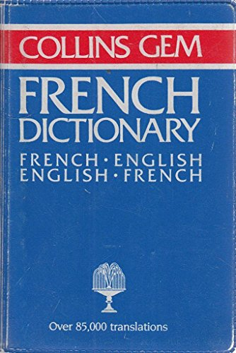 French-English, English-French Dictionary (Gem Dictionaries) By Gustave Rudler