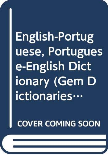 English-Portuguese, Portuguese-English Dictionary By Edited by N.J. Lamb