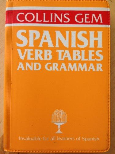 Spanish Grammar and Verb Tables (Gem Dictionaries) By Alicia de Benito de Harland