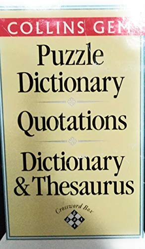Crossword Box:Crossword Dictionary,Quotations,Dictionary and Thesaurus (Collins Gems)