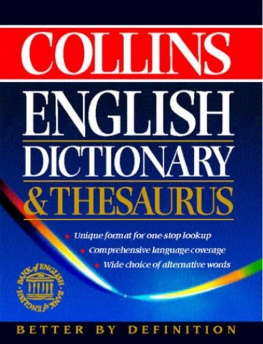 Collins Dictionary and Thesaurus By Not Known
