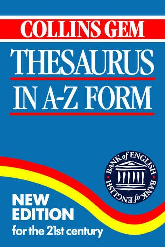 Collins Gem Thesaurus By Henry H Collins, Jr