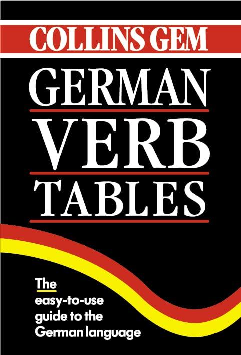 German Verb Tables (Collins Gem) (Collins Gems)