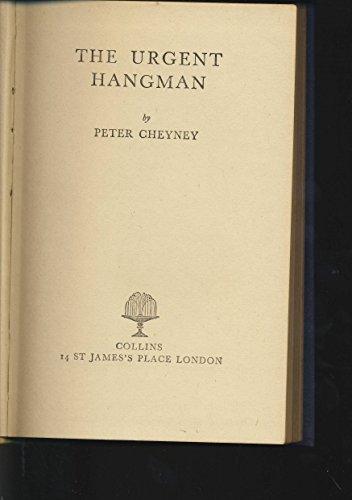 Urgent Hangman By Peter Cheyney