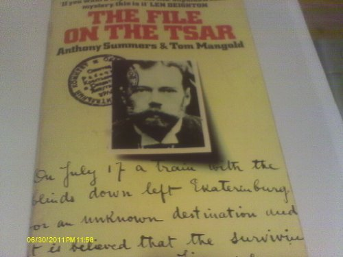 The File on the Czar By Anthony Summers