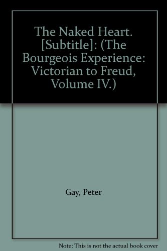 Bourgeois Experience By Peter Gay