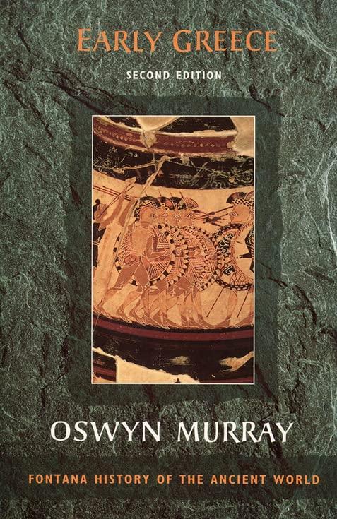 Early Greece By Oswyn Murray