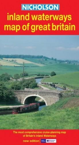 Nicholson Inland Waterways Map of Great Britain By Ordnance Survey