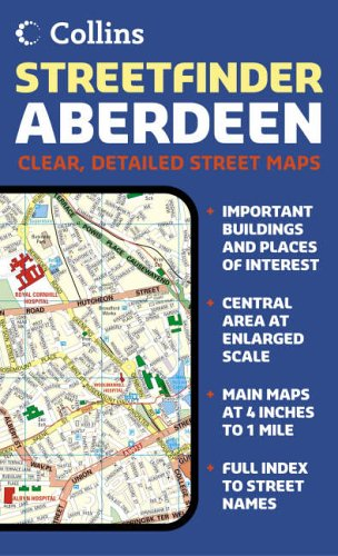 Aberdeen Streetfinder Colour Map By Collectif