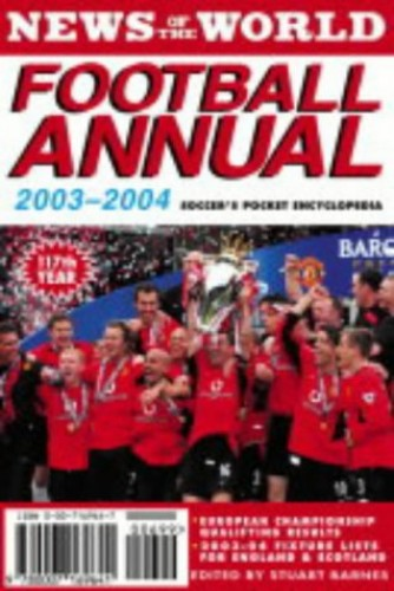 News of the World Football Annual By Volume editor Stuart Barnes