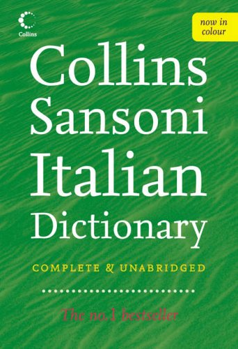 Collins Sansoni Italian Dictionary By Unnamed
