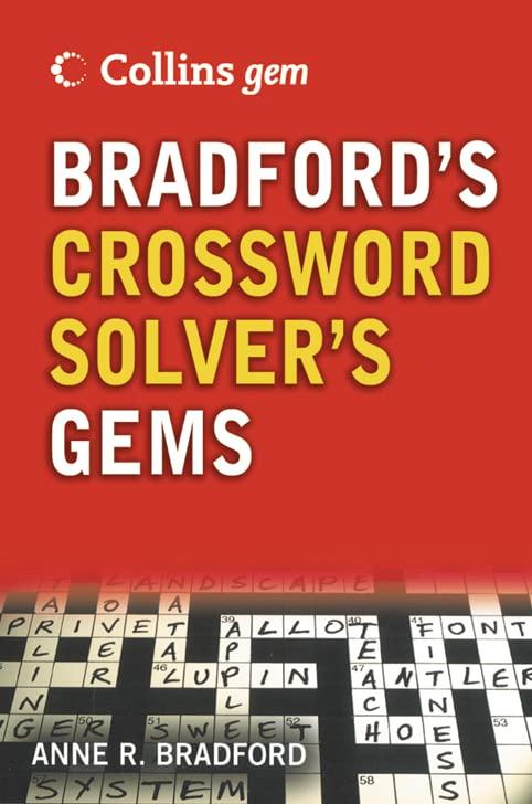 Bradford's Crossword Gems by Anne R. Bradford