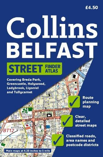 Belfast Streetfinder Colour Atlas [New Edition] By Collins Maps