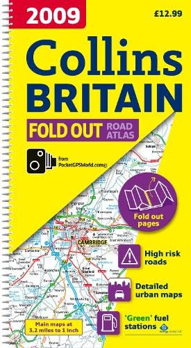 2009 Collins Fold Out Atlas Britain by Collins UK