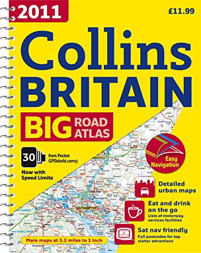 2011 Collins Big Road Atlas Britain By Collins Uk