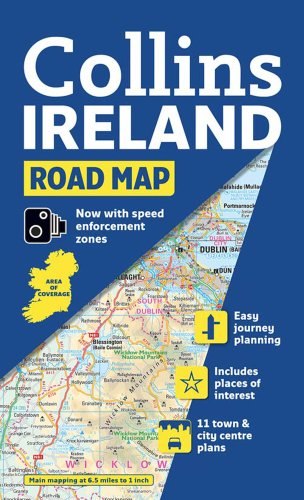 Ireland Road Map By Collins Maps