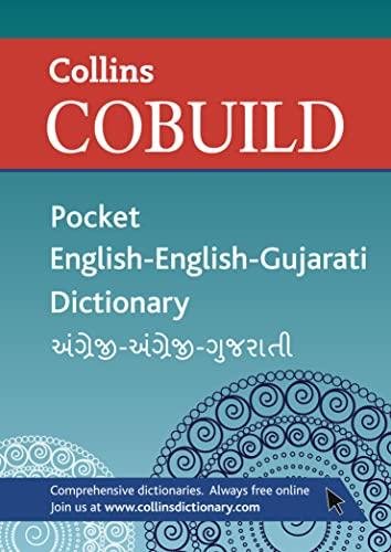 Collins Cobuild Pocket English-English-Gujarati Dictionary By Collins Cobuild P