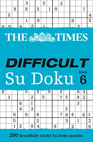 The Times Difficult Su Doku Book 6 By The Times Mind Games