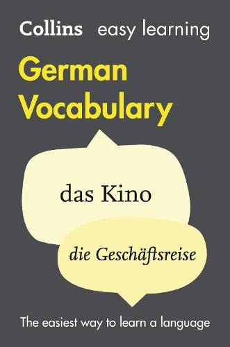 Easy Learning German Vocabulary By Collins Dictionaries