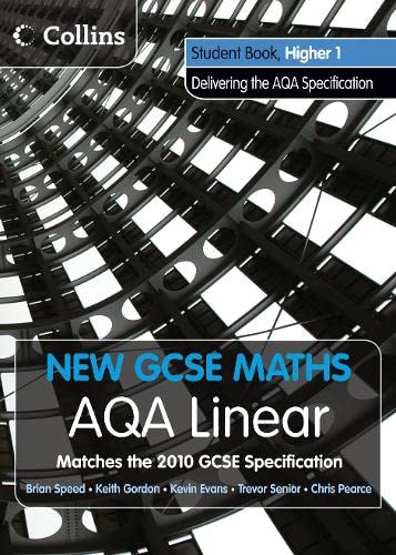 AQA Linear Higher 1 Student Book By Kevin Evans