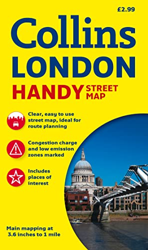 Collins Handy Street Map London (Collins Travel Guides) By Collins Maps