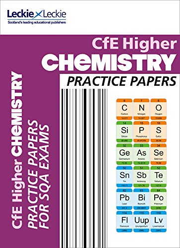 CfE Higher Chemistry Practice Papers for SQA Exams (Practice Papers for SQA Exams) By Barry McBride