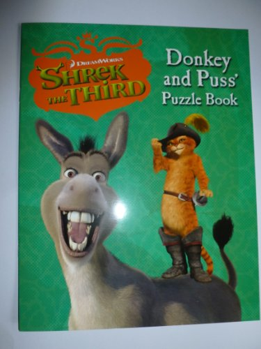 SHREK THE THIRD - DONKEY AND PUSS' PUZZLE BOOK (DONKEY AND PUSS' PUZZLE BOOK) By HARPERCOLLINS CHILDREN'S BOOKS