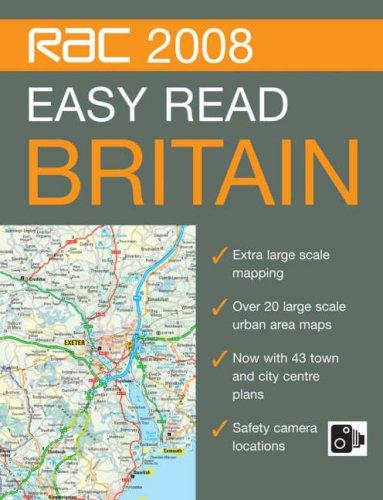 RAC Easy Read Road Atlas Britain (RAC Atlases) By Collins