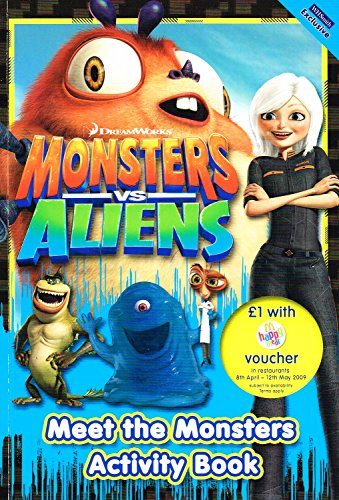 Monsters Vs Aliens : Dreamworks : Meet The Monsters Activity Book : By No Listed Author