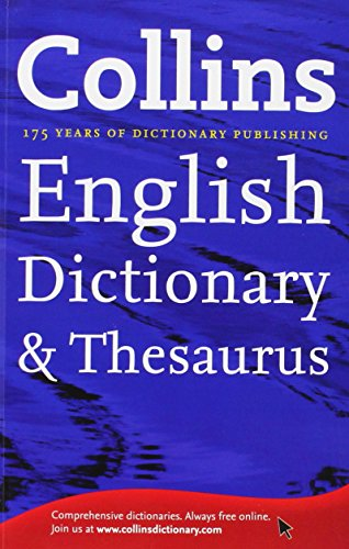 Details about Collins English Dictionary and Thesaurus by N A Book The  Cheap Fast Free Post