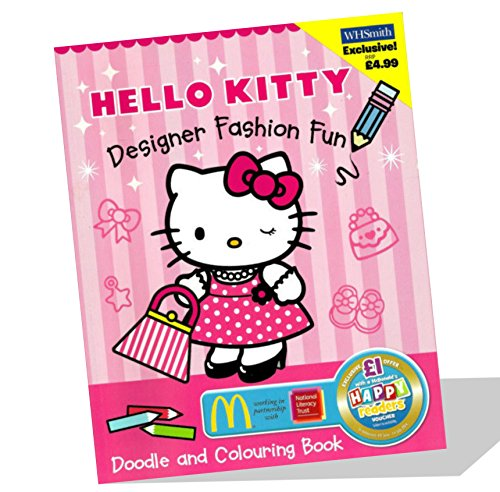 Hello Kitty Designer Doodle Book and Colouring Book By Not Known