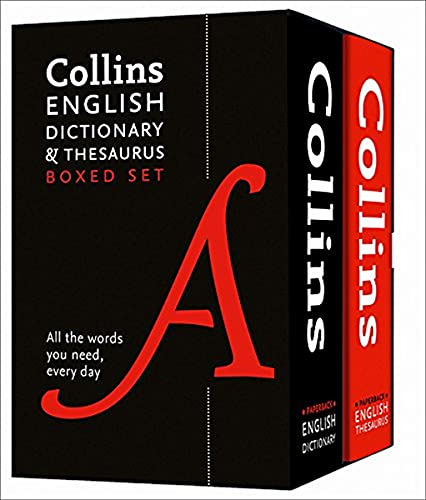 Collins English Dictionary and Thesaurus Boxed Set By Collins Dictionaries