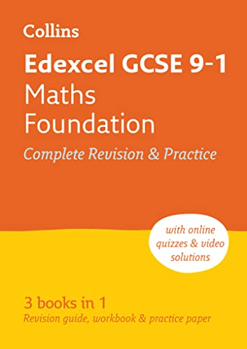 Grade 9-1 GCSE Maths Foundation Edexcel All-inOne Revision and Practice (with free flashcard download) By Collins GCSE