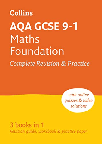AQA GCSE 9-1 Maths Foundation All-in-One Complete Revision and Practice By Collins GCSE
