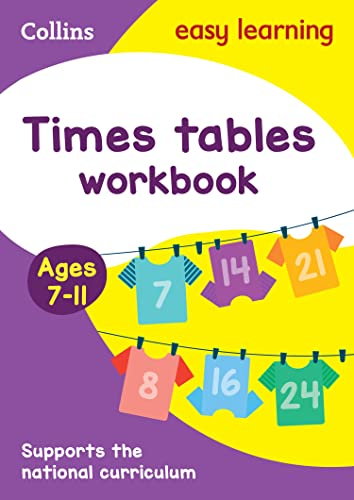 Times Tables Workbook Ages 7-11: New Edition (Collins Easy Learning KS2) by Collins Easy Learning