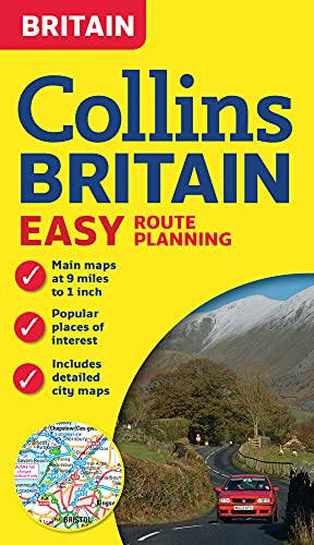 Collins Britain Easy Route Planning Map By Collins Maps