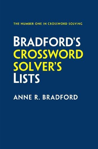 Collins Bradford's Crossword Solver's Lists By Anne R. Bradford