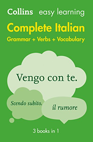 Easy Learning Italian Complete Grammar, Verbs and Vocabulary (3 books in 1) von Collins Dictionaries