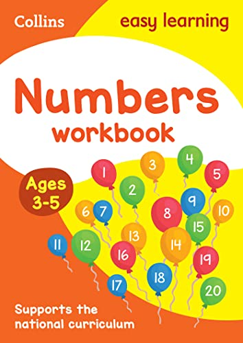 Numbers Workbook Ages 3-5 By Collins Easy Learning